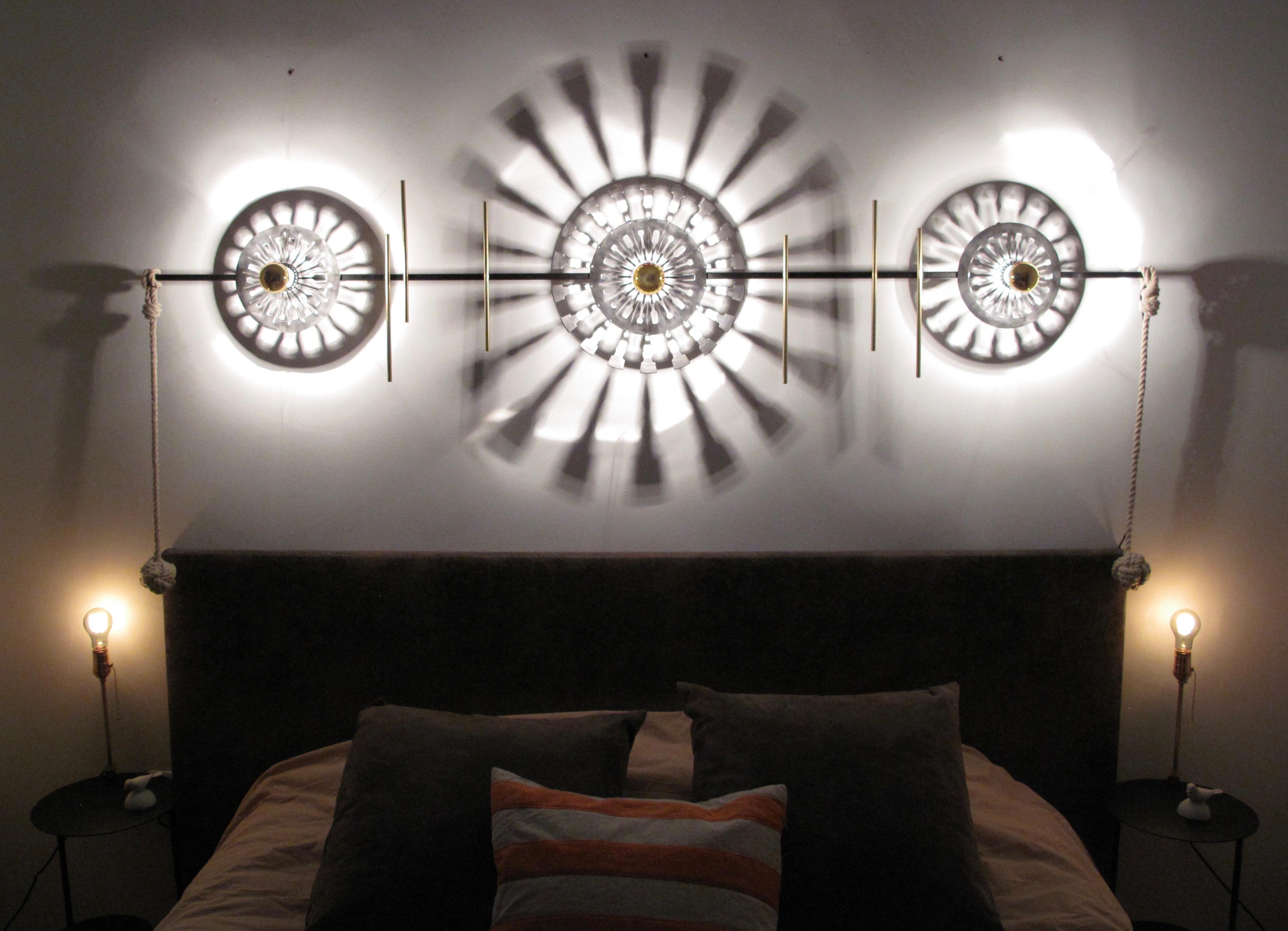 Music sheet lamp & round bedsides