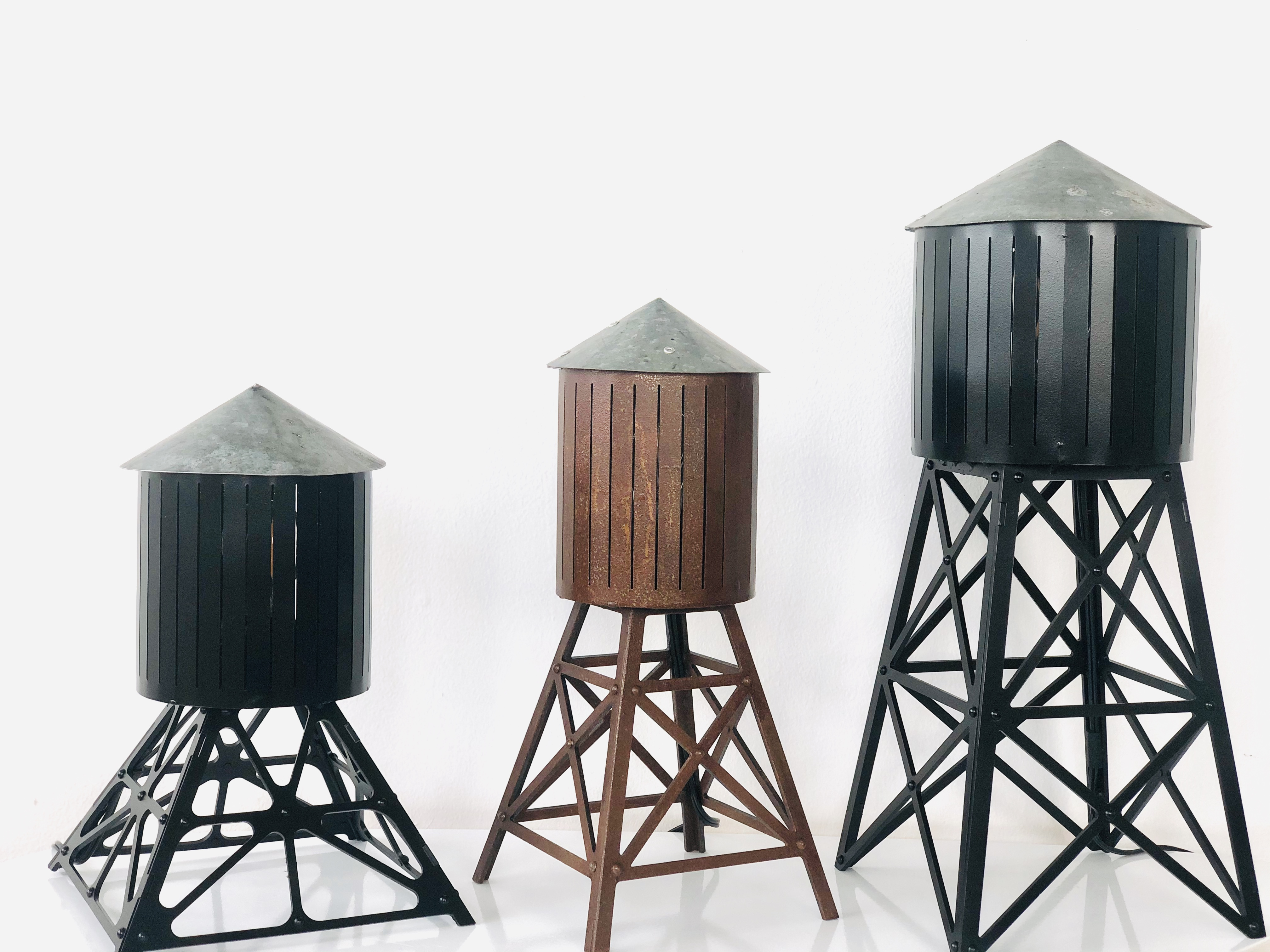 Water towers table lamps