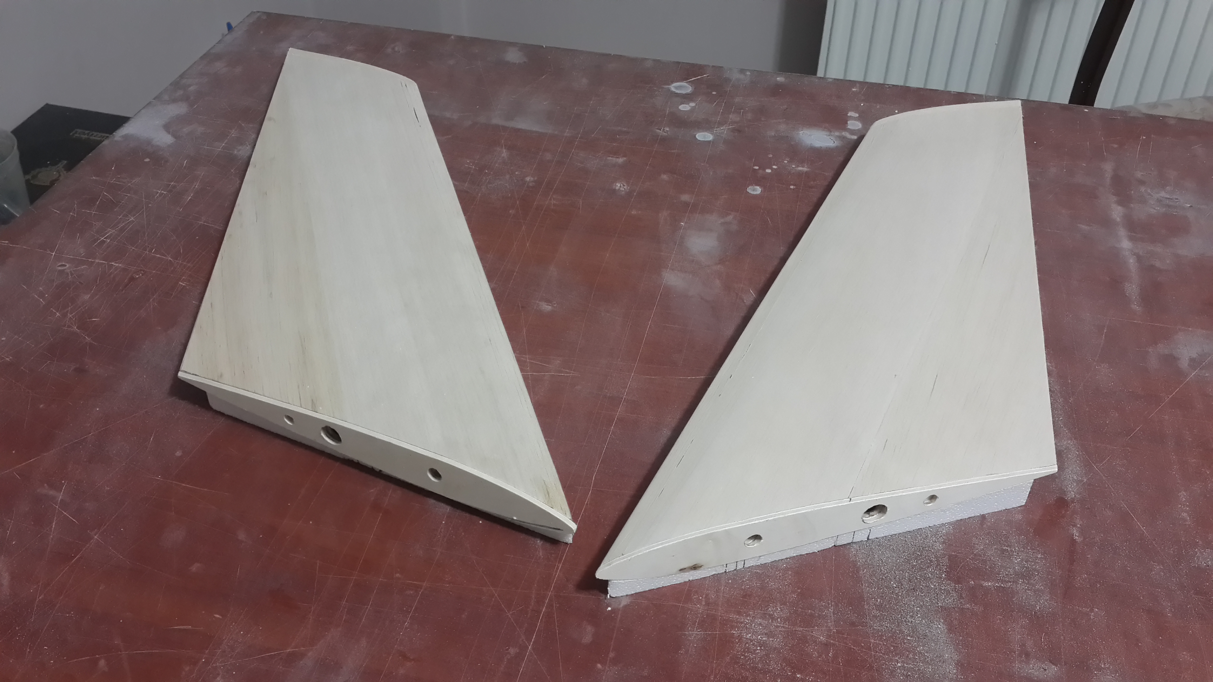 Elevators Covered with Balsa