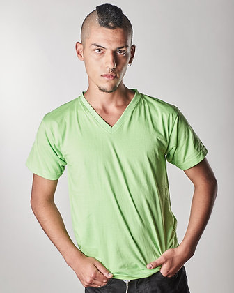 Cuello v masculina Verde manzana S