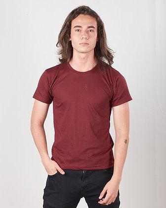 Cuello sencillo masculina Vinotinto S