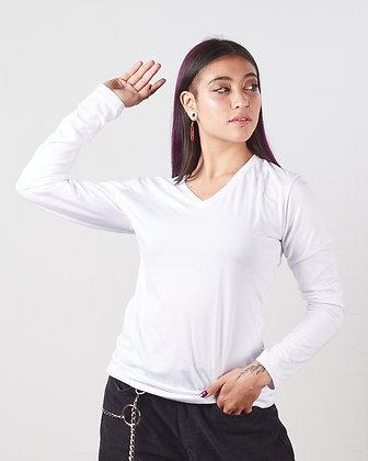 Buso cuello v femenino Blanco XL