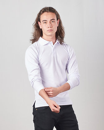 Camiseta Polo masculina manga larga