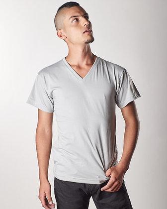 Cuello v masculina Gris ceniza S
