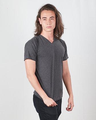 Camiseta cuello V en algodón PIMA