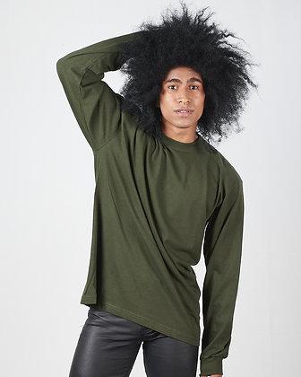 Buso manga larga con puño Verde policia XL