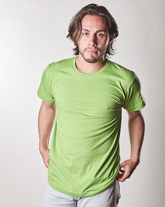 Cuello sencillo masculina Verde manzana S, M