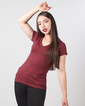 Camiseta cuello v femenina parte 2