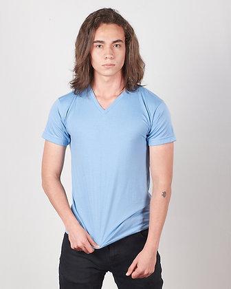 Camiseta cuello v masculina parte 2
