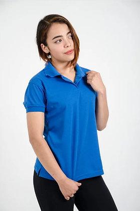 Polo femenina Azul rey XL