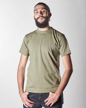 T-shirt algodón masculina Verde Policía S