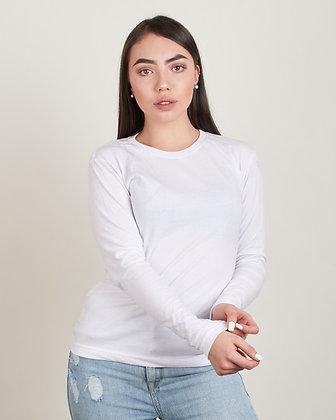 Buso cuello redondo femenino Blanco M