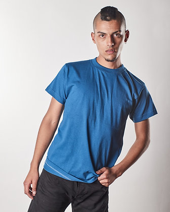 T-shirt algodón masculina Petróleo claro S, L