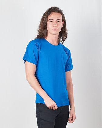 Camiseta cuello sencillo en algodón PIMA