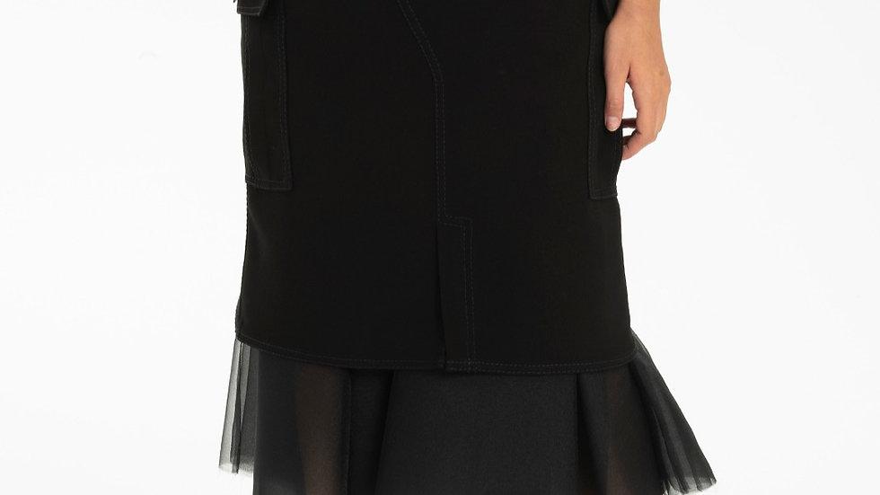 Serr Crep Skirt