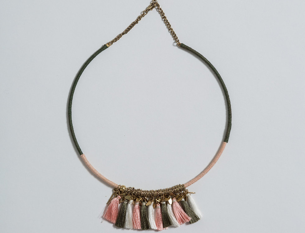SIMA tasseled choker Necklace