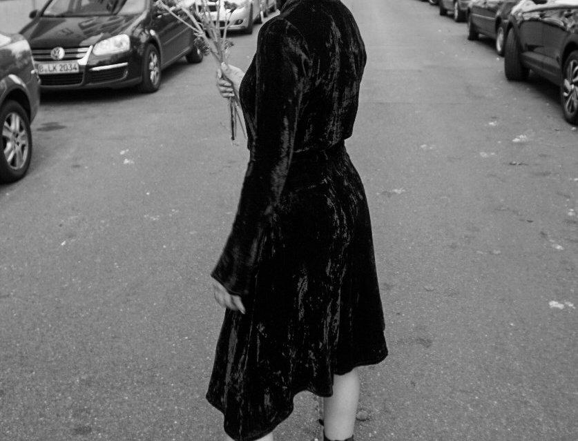 DELIA velvet Dress
