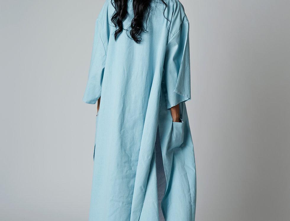 SARÉ maxi cotton kimono