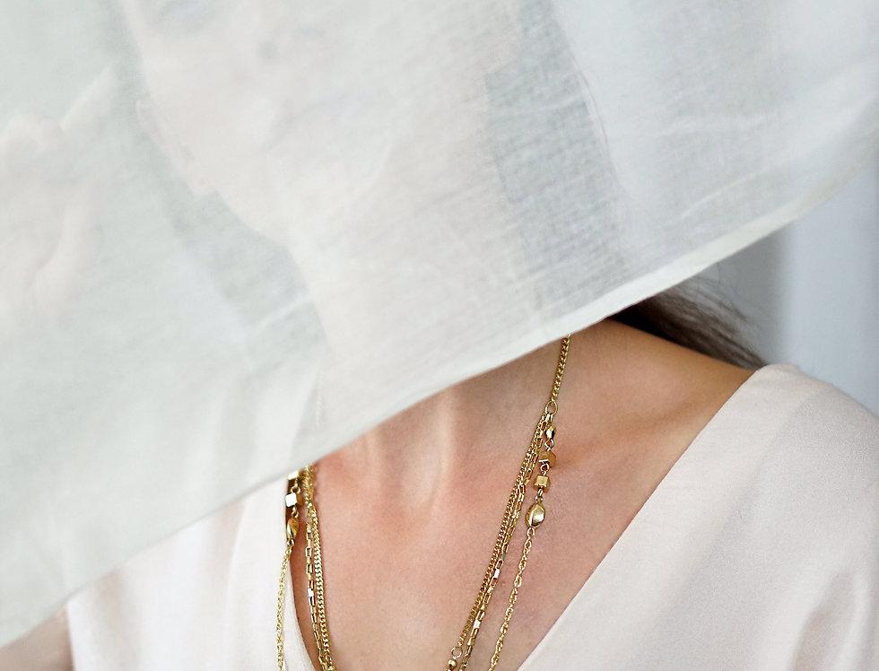 SAANA multi-chain necklace