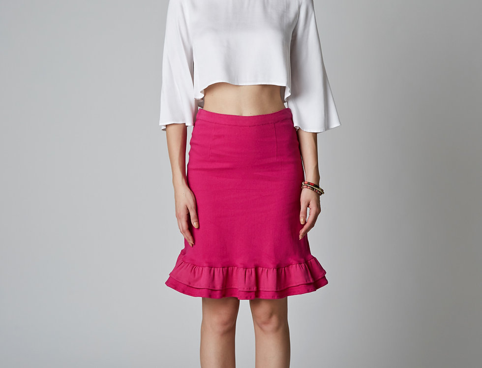 LEYAN cropped Blouse