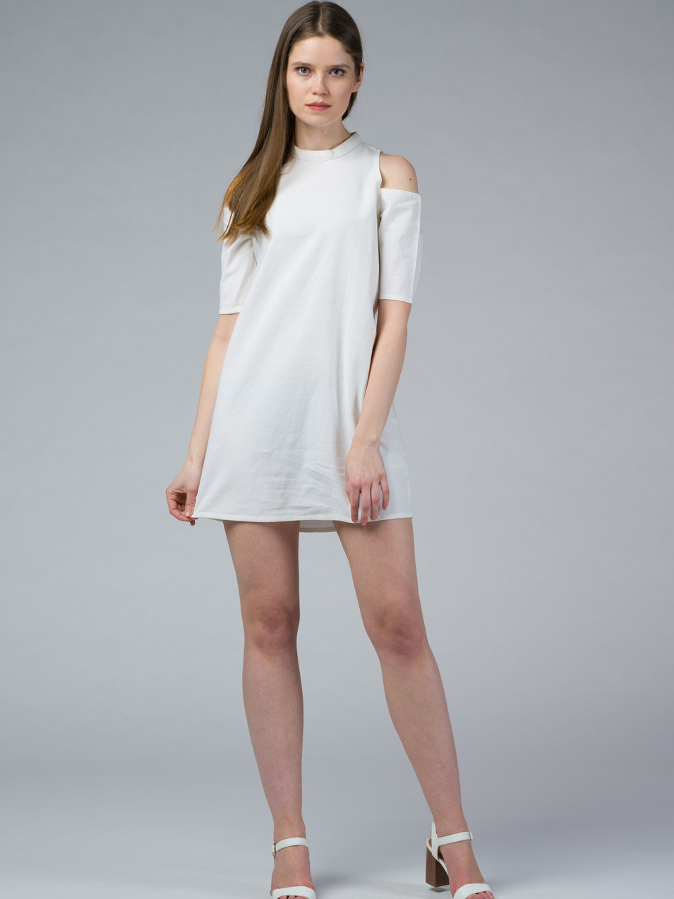 AARA A-line Cold Shoulder Dress