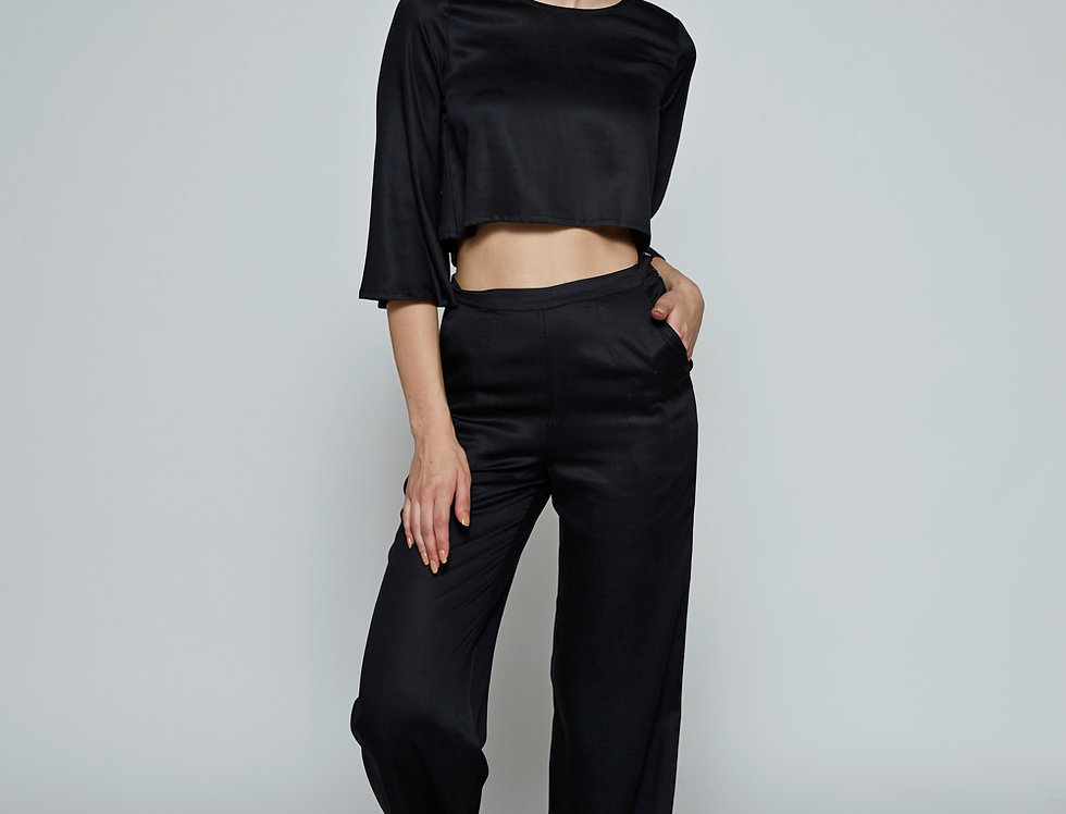TAJAH Satin Trousers