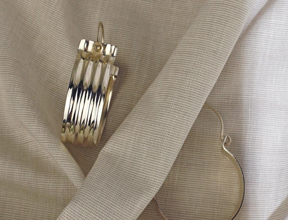 IMAIMA SHILA chunky hoops in silver