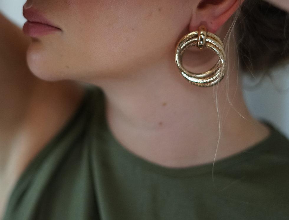 SEZGI double hoop earrings