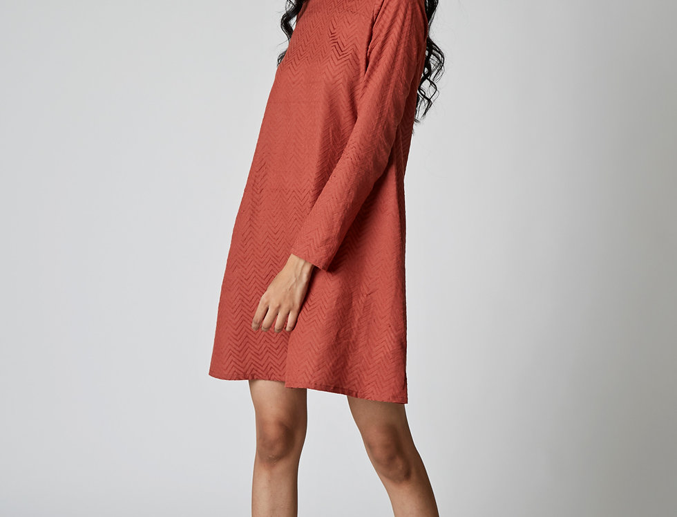 LENYA Jacquard A-line Dress