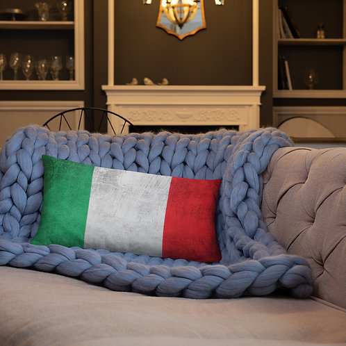 Italian Flag Italy Italia Vintage Look Rectangle Throw Pillow