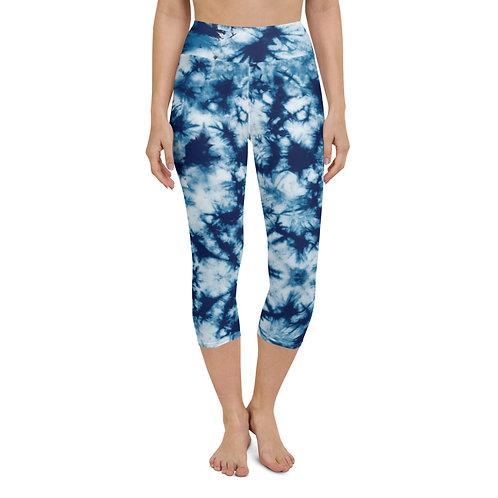 Tie Dye Yoga Capri Leggings Surfing Beach Paddleboarding
