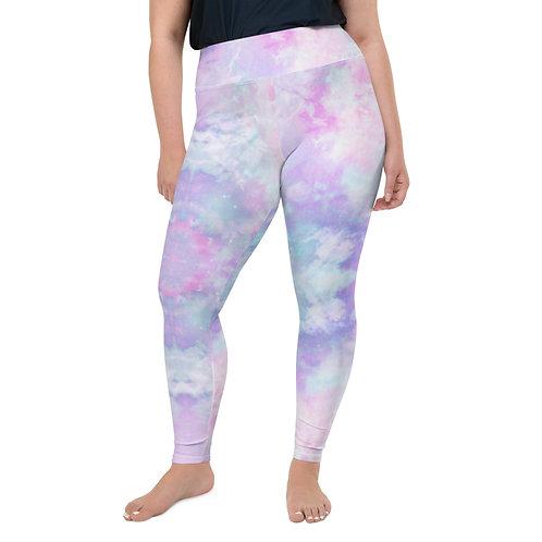 Purple Pastel Plus Size Leggings 3X - 6XL