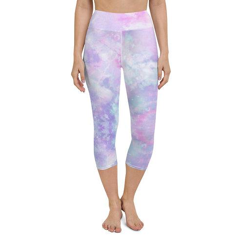 Purple Pastel Yoga Capri Leggings