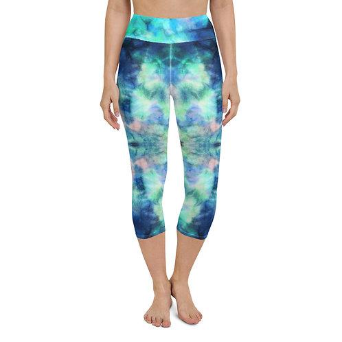 Tie Dye Yoga Capri Leggings