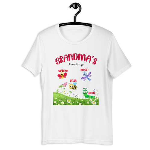 Personalized Grandma's Lovebugs Valentine's Mother's Day T-Shirt