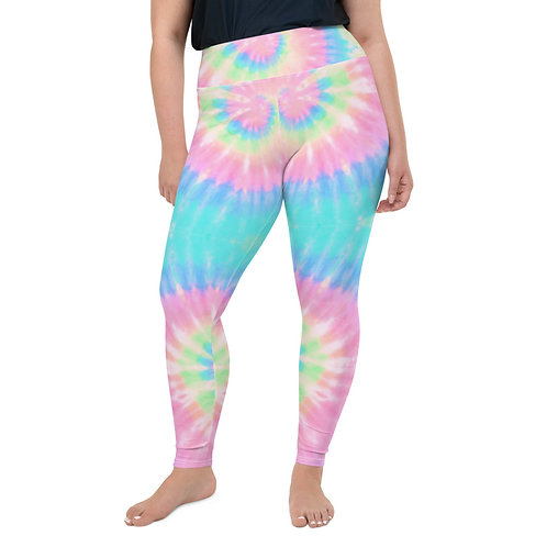 Pastel Tie Dye Plus Size Leggings 2x-6XL