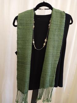 Wool-silk scarf