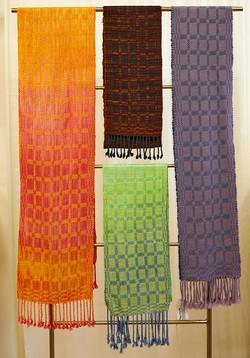 an array of scarves