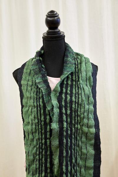 silk and wool ruffle scarf
