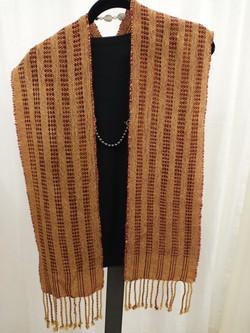 Wool and wool-silk scarf