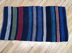 colorful cotton rug, made of t-shirts