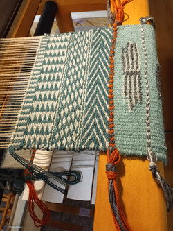 A sample for a new wool rug