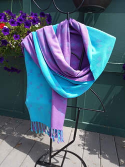 SOLD Bamboo double weave shawl