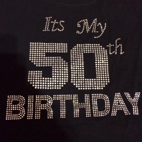 ITS MY 50TH BIRTHDAY BLING TEE
