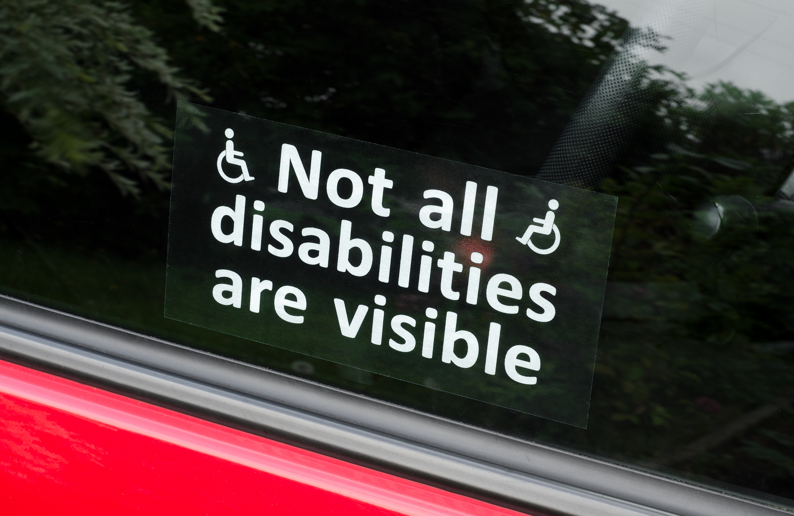 Prejudice, Not all disabilities are visi