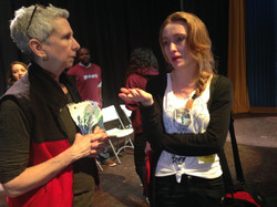 rhi discussing poetry with laces teacher.JPG
