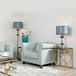 sofa o sillon chester azul