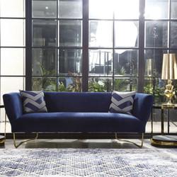 sofa azul curve