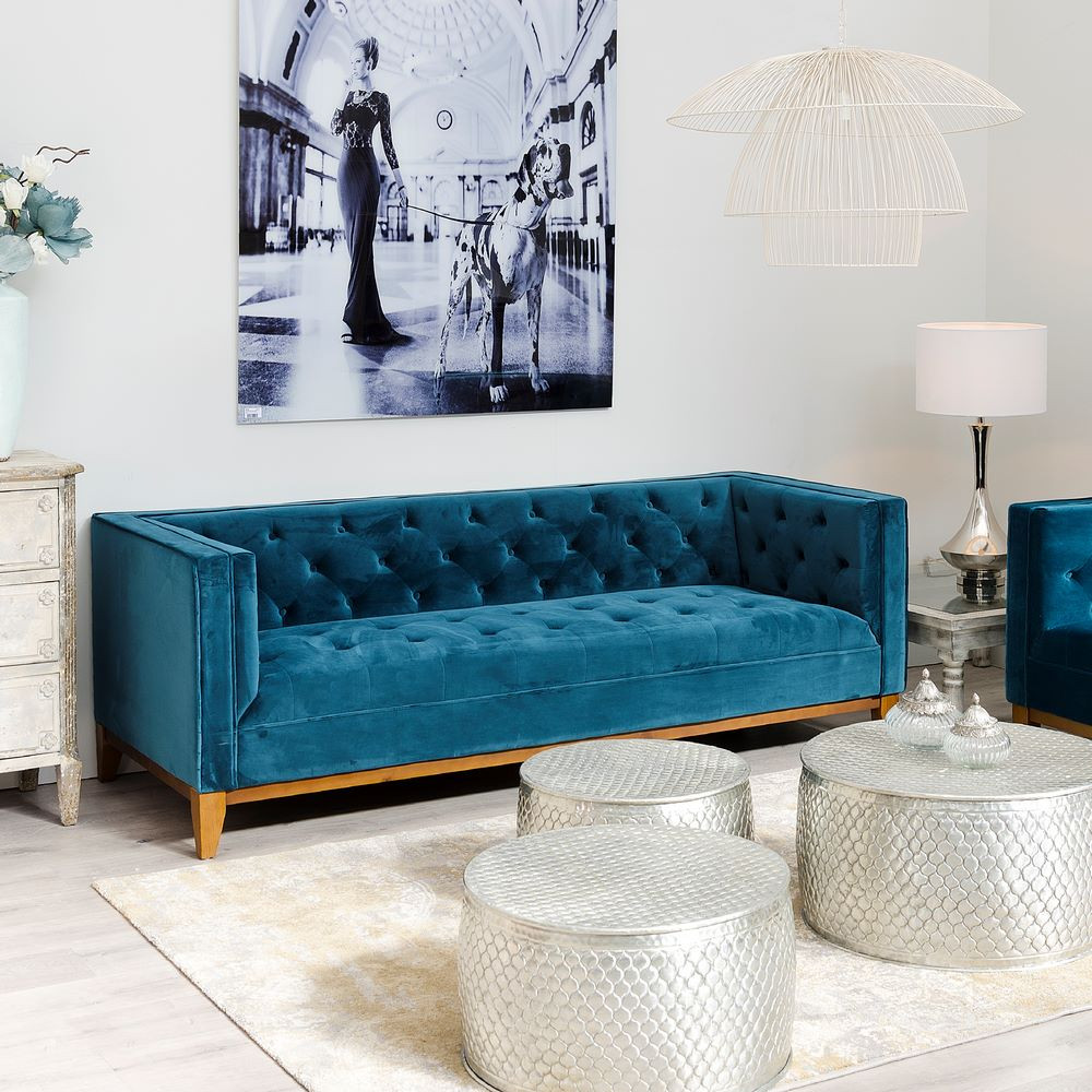 sofa 3p azul