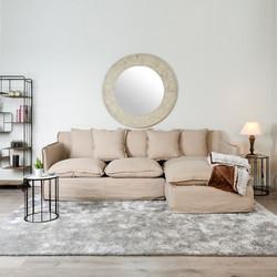 sofa chiselongue beig